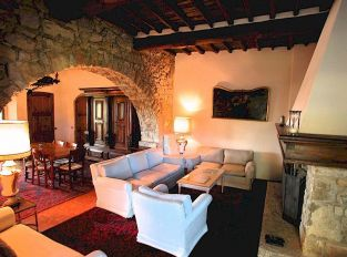 Podere Sagna living room